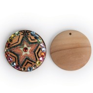 Round Wood Pendants, Round 40mm D (Pack of 50)