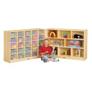 Jonti-Craft® 25-Tray Cubbie Fold-n-Lock without Trays