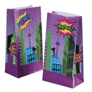 Super Hero Treat and Goodie Bags (Pack of 12)