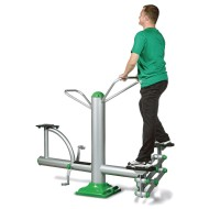 Combo Stepper and Bike Outdoor Exercise Station