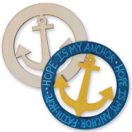 Anchor Wood Plaques (Pack of 24)