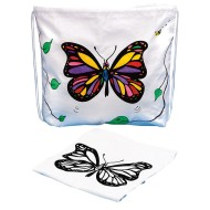Drawstring Bag with Velvet Art Butterfly (Pack of 12)