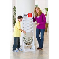 Deluxe Donation Stand, White Frame