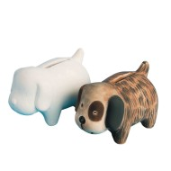 Color-Me™ Ceramic Bisque Puppy Banks (Pack of 12)