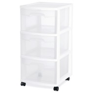 Sterilite® 3-Drawer Storage Cart