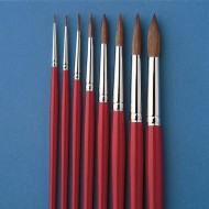 Red Sable Watercolor Round Brushes (Set of 8)