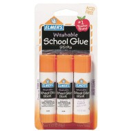 Elmer's® Washable School Purple Glue Sticks (Pack of 3)