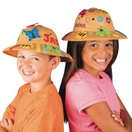 Safari Fun Hats Craft Kit (Pack of 12)
