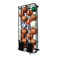 Double Wide Lockable Wall Ball Rack