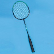 Steel Shaft Nylon String Badminton Racquet