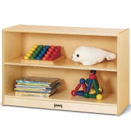 Short Fixed Straight Shelf Bookcase