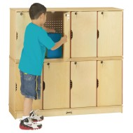 Double Stack Lockers (Two Rows of Four)