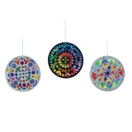Sun Catcher Mandalas, Round (Pack of 24)