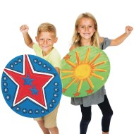 Color-Me™ Super Hero Shields (Pack of 24)