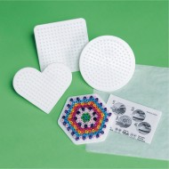 Small Fuse Bead Pegboards, Assorted Shapes