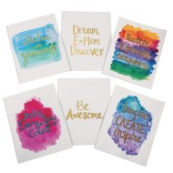 Watercolor Gold Resist Art Prints (Pack of 36)