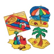 Beach Sun Catchers Craft Kit (Pack of 48)