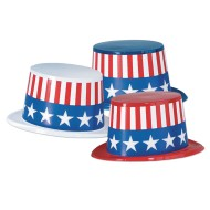 Patriotic Topper Hats (Pack of 25)