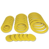 Yellow Foam Ring and Disc Set