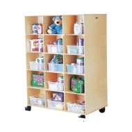 Two-Sided Cubbie Storage