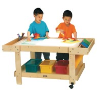 "Jonti-Craft® Creative Caddie Light Table, 55"" with Bins"