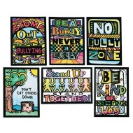 Anti-Bully & Kindness Velvet Art Mini Posters (Pack of 24)