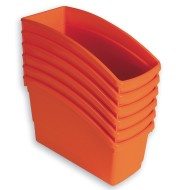 Book Bins Set, Orange (Pack of 6)