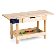 Jonti-Craft® Wooden Workbench with Vice and Drawer