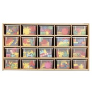 Young Time™ 20 Tray Cubbie Storage - with clear trays