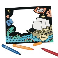 Velvet Pirate Frame Craft Kit (Pack of 12)