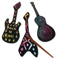 Groovy Scratch Guitars Craft Kit (Pack of 48)