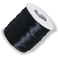 Black Rattail Silk Cord,  144 Yards
