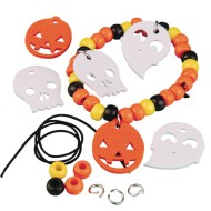 Halloween Pony Bead Bracelet Craft Kit (Pack of 12)