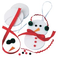 Snowman Ornament Craft Kit (Pack of 12)