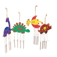 Dino Wind Chimes Craft Kit (Pack of 12)