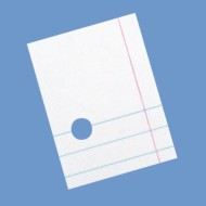 College Ruled 3-Hole Punched Notebook Paper, 8-1/2