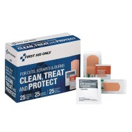 Wound Clean, Treat, and Protection First Aid Kit