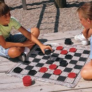 Jumbo Checkers & Backgammon Game Rug