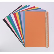 Fade-Resistant Construction Paper, 12x18, 76lb , Assorted, Assorted (Pack of 50)