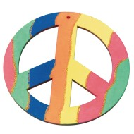 Wood Peace Sign Craft Kit (Pack of 12)