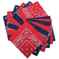 Bandanas - Red/Blue Western