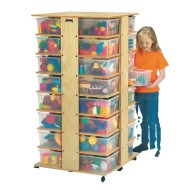 32 Cubbie Tower with Color Tubs