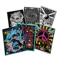 Velvet Art Folders (Pack of 6)