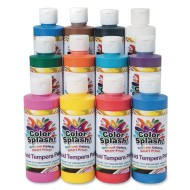 Color Splash!® Liquid Tempera Paint Assortment, 8 oz. (Pack of 12)