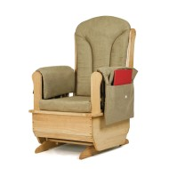 Jonti-Craft® Glider Rocker Chair with Khaki Cushions