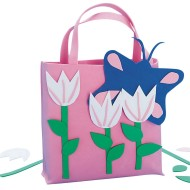 Pink Tulips Tote Bag© Craft Kit (Pack of 12)