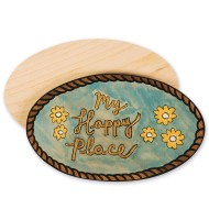 Unfinished Oval Plaques (Pack of 12)