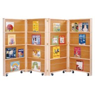 Jonti-Craft® Mobile Library Bookcase - 4-Section