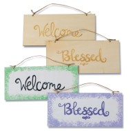 Double Sided Wood Plaques: Inspired (Pack of 6)