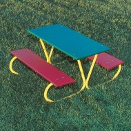 Kids' Picnic Table, Multicolored